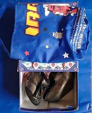 Irregular Choice I'm From The Future Metallic Leather Wedge size 5  AND Shoe Bag