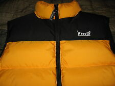 New Marker Goose Down Vest Adult Mens or Womens Size Small Yellow Black