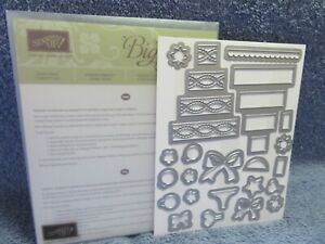 stampin up SHAKER SHAPES FRAMELITS DIES-cake-bows-hearts-flowers-NEW