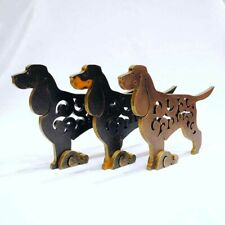 Field spaniel figurine, dog statue made of wood (MDF), hand-painted