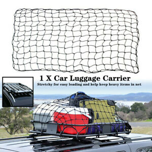 180x120CM Auto Car Roof Luggage Net Mesh Pickup Top Rack Carrier Cargo w/Buckle