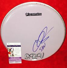"CHRIS LAYTON Signed Autograph 12"" Drumhead Stevie Ray Vaughn JSA Double Trouble"