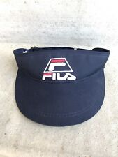 Vintage 1990s Genuine Fila Sun Visor Adjustable Sports Hat Red White Blue USA