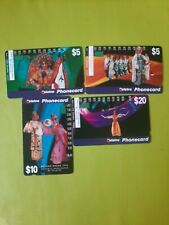 Set  X  4  1Hole Phonecards Beijing Opera  Prefix 992  _995