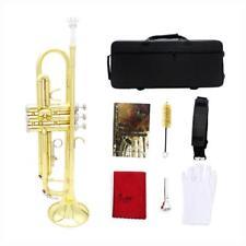 Portátil 1 conjunto latón Bb trompeta con estuche de bolsa de