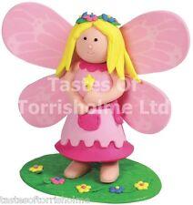 Culpitt Pink Flower Fairy Princess Cake Topper Figurine Decoration