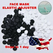 100 pcs Silicone Adjuster Cord lock for ear stopper SUPPLY