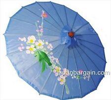 Set of 4 Kid's Size Chinese Japanese Oriental Parasol Umbrella 22-inch Blue