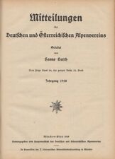 Mittheilungen des Deutschen und Österreichischen Alpenvereins. Band 54 (1928) -