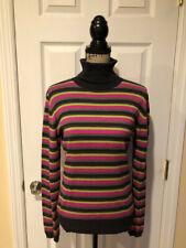 Missoni Women's Turtleneck Sweater Striped Size Medium