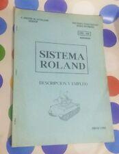 BORRADOR MANUAL SISTEMA MISILES ROLAND 1989 - RARE - OFFERS ARE WELCOME !