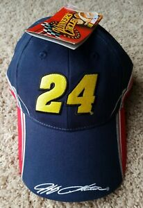 NASCAR Racing Jeff Gordon 24 Dupont Motorsports Hat Cap NEW NWT Blue Red Yellow