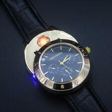 Military Cigarette Cigar Lighter Watch Men Quartz USB Refillable Wrist Watches