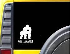 Gorilla Harambe RIP *F455* 6x6 inch Decal Sticker