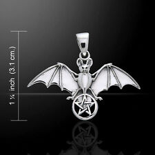 Bat Pentacle .925 Sterling Silver Pendant by Peter Stone
