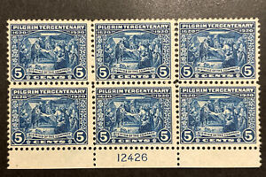 TDStamps: US Stamps Scott#550 Unused NG Some Perfs Separated P#Block of 6