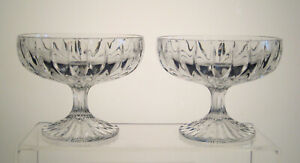 """PARK LANE MIKASA Footed Compotes 4 1/8"""" SET of TWO, Multi Avail"""