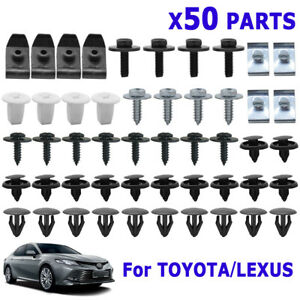 50x For Toyota & Lexus Under Engine Cover Clips Screw Mud Flaps Wheel Arch Rivet