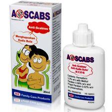 A-Scabs Lotion 30ML (1oz) Scabies Body Lice Ticks Flea Mites Arthropod Treatment