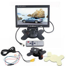 "7"" LCD TFT Rearview Monitor screen for Car Backup Camera W/ Wireless Remote"