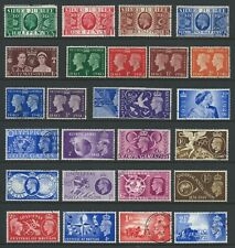 GB.  9 SETS 1935 S JUBILEE TO 1951 FESTIVAL (NO £1 S WEDDING), ALL FINE USED