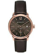 Burberry Men's The Classic Swiss Rose Gold Dark Brown Leather 40mm Watch BU10012