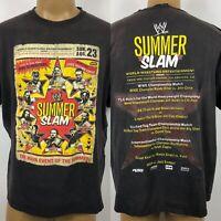 RARE WWE Summer Slam 2010 Wrestling John Cena Championship Men's T-Shirt 2XL