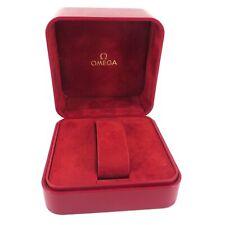 GENUINE OMEGA WATCH BOX VINTAGE RED SEAMASTER SPEEDMASTER DEVILLE CONSTELLATION