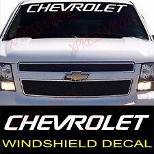 "Chevrolet WHITE Windshield Graphic Vinyl Decal Sticker Custom 40"" Vehicle Logo"