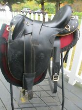 18 Inch Australian Stockpoly Saddle Black Leather - No Horn -Regular Tree
