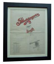 CURVED AIR+Phantasmagoria+TOUR+POSTER+AD+ORIGINAL 1972+FRAMED+FAST GLOBAL SHIP