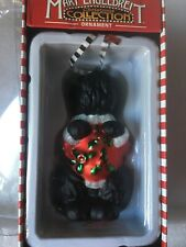 Mary Engelbreit Christmas Glass Scottie Dog Ornament New In Box