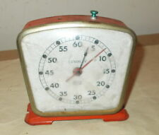 VINTAGE LUXOR IV ARISTO CLOCK TIMER-RED METAL CASING-NOT SOLD AS WORKING-COOL