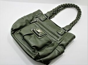 Women's Rosetti Purse Yellowish Green Designer Handbag with small Purse at front