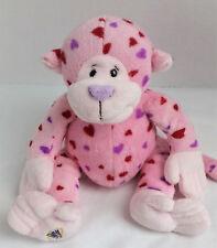 GANZ Webkinz Love Monkey Pink Plush Stuffed Animal Pink Hearts No Code Retired