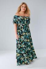 Stampa Tropicale Abbigliamento Yours Gypsy Maxi Abito Taglia UK 18 Blk & Multi DH076 GG 17