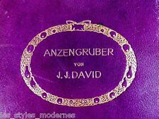 Style Art Déco Livre ° Anzengruber de J.J. David ° cuir reliure ° heinrich vogeler