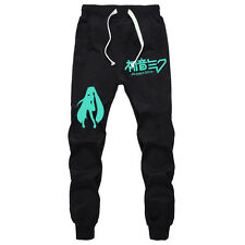 Anime Hatsune Miku Long Pants Cosplay Sport Casual Trousers Joggers Sweatpants