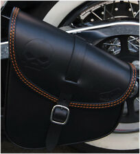 SWING ARM SADDLE BAG FOR HARLEY DAVIDSON SOFTAIL AND RIGID FRAMES MADE IN ITALY