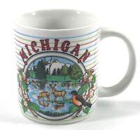 Michigan State Bird Flower Wildlife Scenery Souvenir Tea Coffee Mug Cup