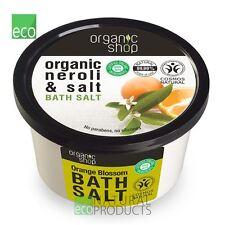 Organic Shop Bath Salt  Orange Blossom Organic Neroli & Salt 250ml