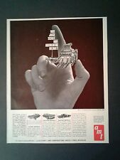 1964 AMT Stock Model Car Kits 1/25 Pontiac Engine Toy Promo Paper AD