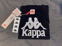 NWT Kappa Streetwear Authentic Estessi Black/Reflective Men's T Shirt M L XL