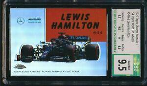2020 Topps Chrome Formula 1 F1 Lewis Hamilton '54 World on Wheels CSG 9.5 Gem