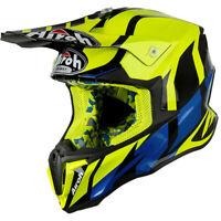 NEW Airoh MX 2018 Twist Great Yellow Gloss Motocross Off Road Race Helmet