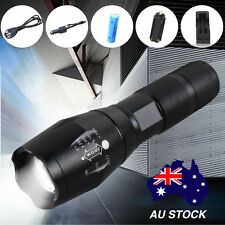 AU POST 8000LM CREE LED Waterproof Flashlight Torch Camping Hunt Zoomable Kit