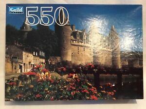 "Vintage Guild Jigsaw Puzzle 550pc Josselin Chateau Brittany France - 14"" x 18"""