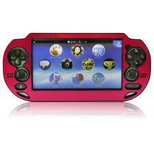 Hybrid protective case for PS Vita 1000 console aluminium cover - Red | ZedLabz