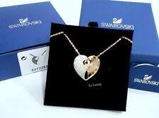 Swarovski Guardian Necklace, Medium, White heart ROS Crystal Authentic 5272253