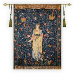 William Morris Flora Gobelin Tapestry Panel Wall Hanging, X-Large, 57x79